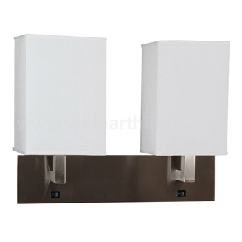 Usa Lighting Factory Ul Cul Listed Hotel Bedside Wall Lamp With Dual On Off Base