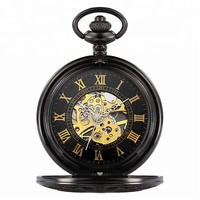 Wholesale hollow oem pocket watch mechanical antique pocket watch