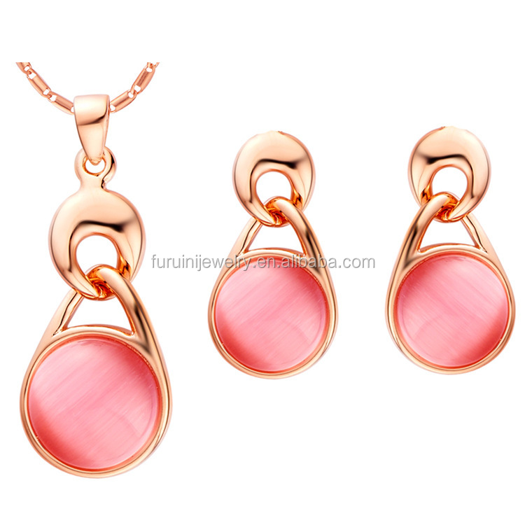 HOT sale big fashion wedding cat's eye jewelry set,sterling silver cat's eye jewelry set