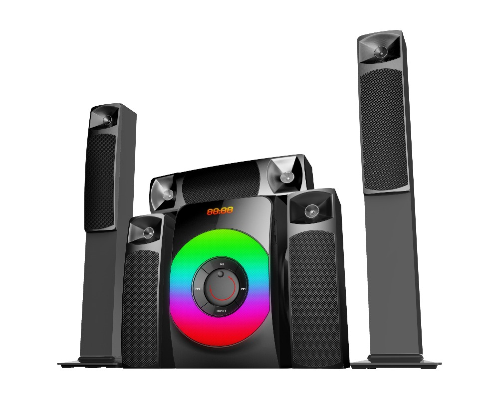 Altavoz 5.1 de la torre 5.1 tower home theater amplifier system with digital audio sound