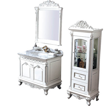 Glänzend Weiß Viktorianischen Massivholz Badezimmer-eitelkeit In  Gästetoilette,Vintage-stil Pegasus Bad Eitelkeit Mit Bad Kabinett Wts320 -  Buy ...