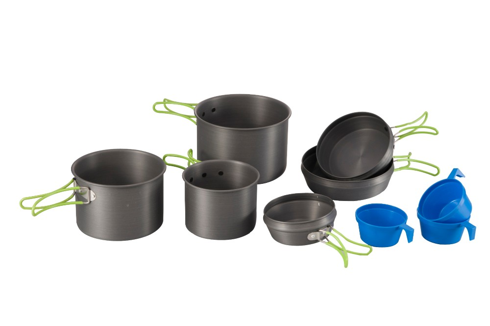 Hot sales 3-Person Hard Anodized Camping Cook Set