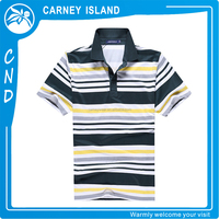 Factory OEM service mens wholesale striped polo t shirt super soft cotton polo collar shirt