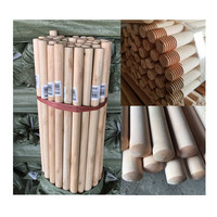 Guangxi factory direct sales 20mm 22mm 25mm diameter eucalyptus wooden broom stick for sale