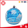 8cm lake blue clear transparent plastic christmas ball