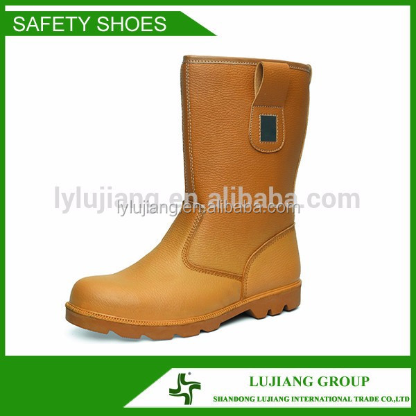 LUJIANG SAFETY Mining Safety Rain Boots, Oil Resistant Sole Waterproof Safety Boots
