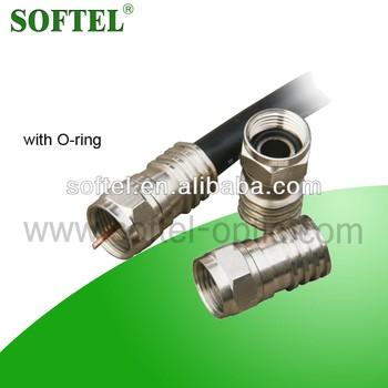 Sf035 Crimp Splice Connector,Rg6 Coaxial Cable/rg11 F Connector ...