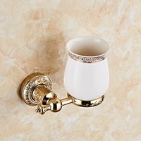 Wall hanging bathroom equipment toothbrush tumbler holder, single cup holder
