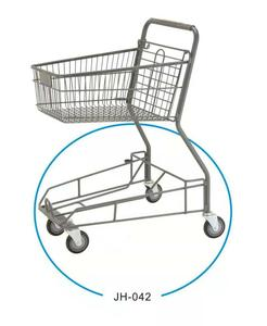 Factory price Japanese style shopping trolley cart, mini shopping trolley cart for supermarket, zinc plated shopping trolley