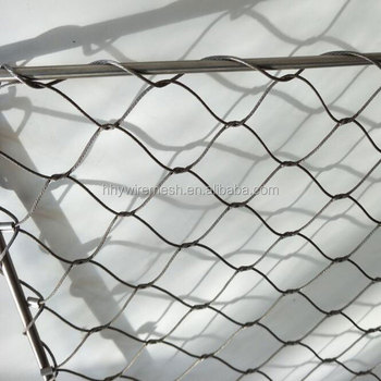 Hand Made Woven Cable Mesh Price Flexible Stainless Steel Rope Mesh ...