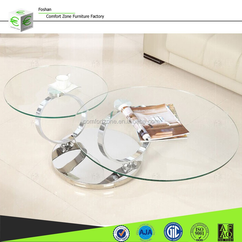 C8041 Fancy Adjustable Glass Table Folding Coffee Table