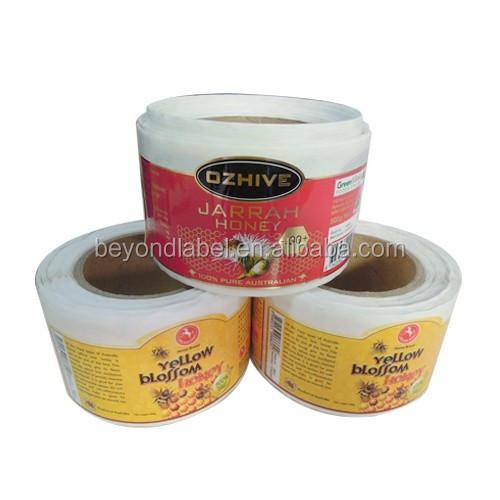 Custom Printing Brand Name Logo Honey Bottle Label Sticker,Waterproof Vinyl  Decal Stickers,Brand Name Adhesive Sticker Roll - Buy Brand Name Honey