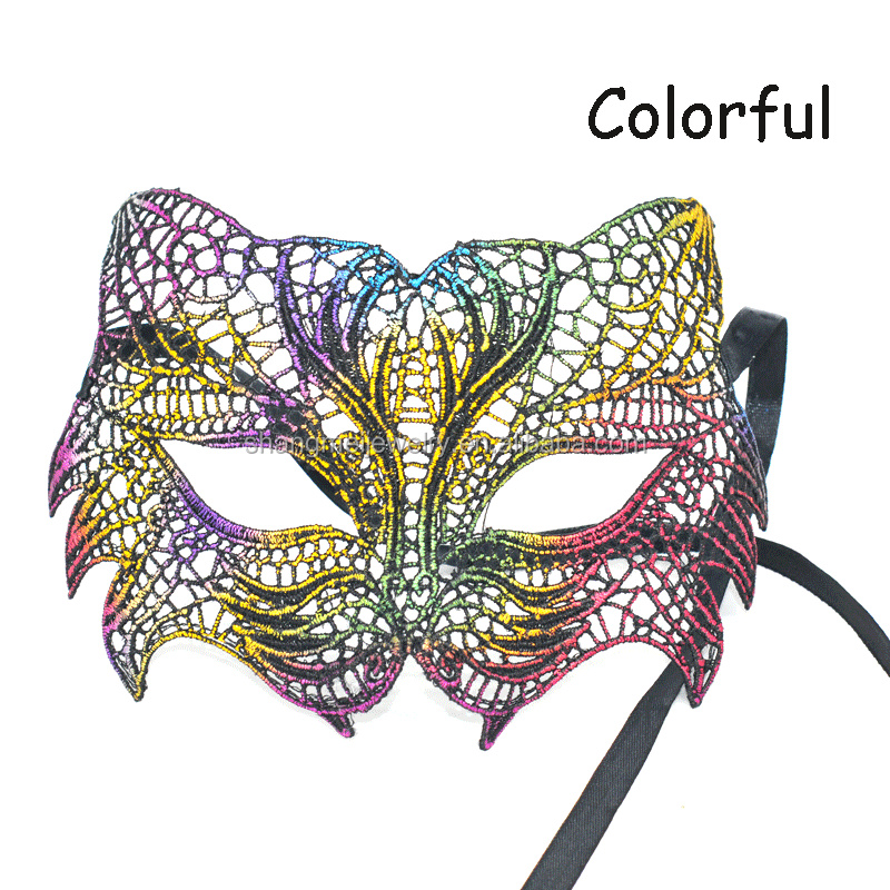 2017 new style heat-shaped lace fox Christmas party city Masquerade mask