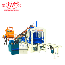 Full-automatic QT4-15C auto brick machine with Siemens motor and PLC control