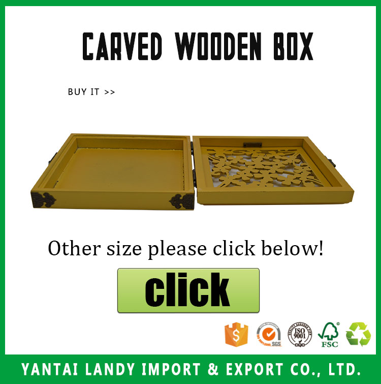 Promotion Unfinished Carved Decorative Wood Boxes With Glass Lid wooden carved box