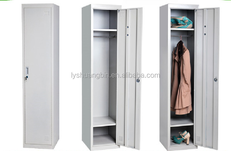 Single Door Metal Clothes Cabinet Small/colorful Lockable Clothes ...