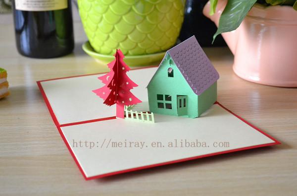 corte laser d pop up tarjetas navidad hecho a mano de los diseos de tarjetas