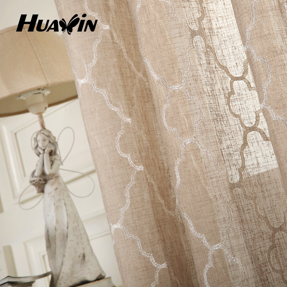 Linen Fabric For Curtains/embroidery Linen Curtain/ready Made ...