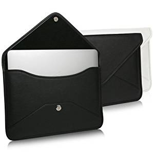 "MacBook Air 13"" (2010) Case, BoxWave [Elite Leather Messenger Pouch] Synthetic Leather Cover w/ Envelope Design for Apple MacBook Air 13"" (2010), 13"" (2011) - Jet Black"