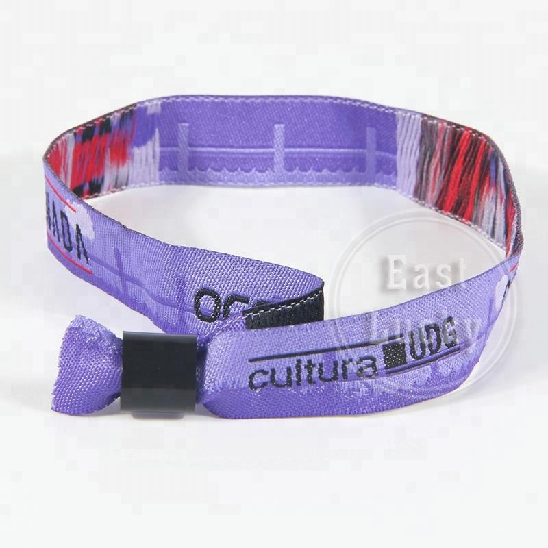 ffa6a9cea604d Make Your Own Logo Customized Fabric Bracelet One-off Woven Polyester  Wristband For Music Clubs - Buy Woven Bracelet,Custom Fabric ...