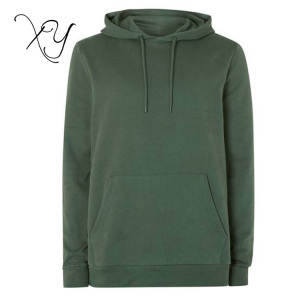 Wholesale Custom Materials Classic Deep green Fit Hoodie With Hood Pocket