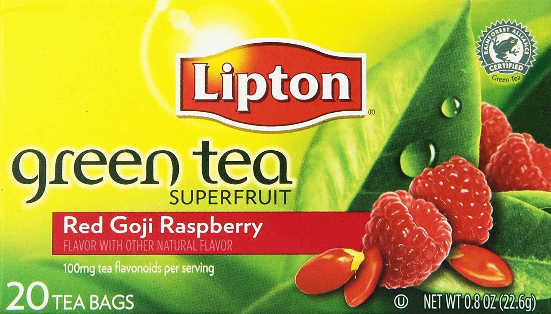 Lipton Green Tea Bags - Red Goji & Raspberry - 20 ct