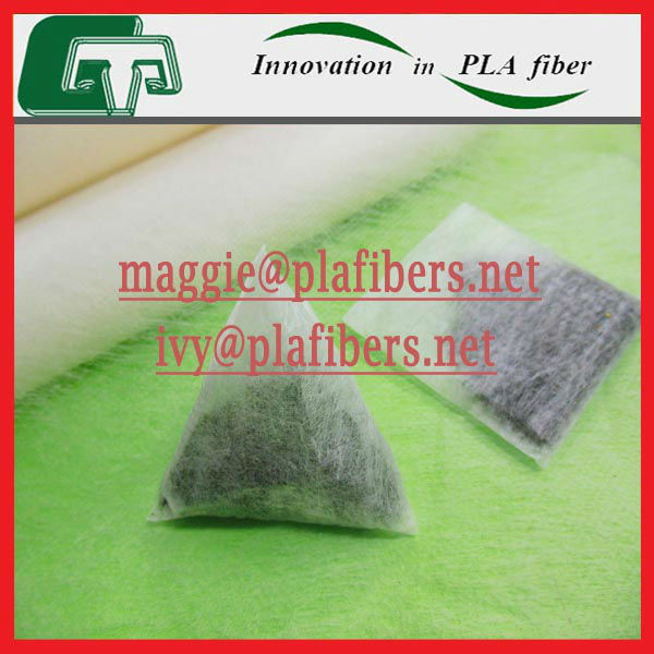 biodegradable triangle pla teabags, pla teabag made of pla nonwoven