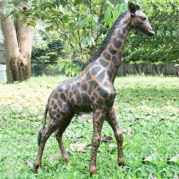 Vivid Cast Bronze Sculpture Outdoor Brass Giraffe Garden Statues