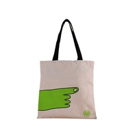 OEM Cotton Bag Canvas Cotton Tote Handle Bag With Zipper
