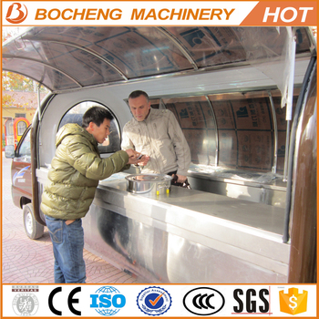 new design fashionable mobile food car for sale