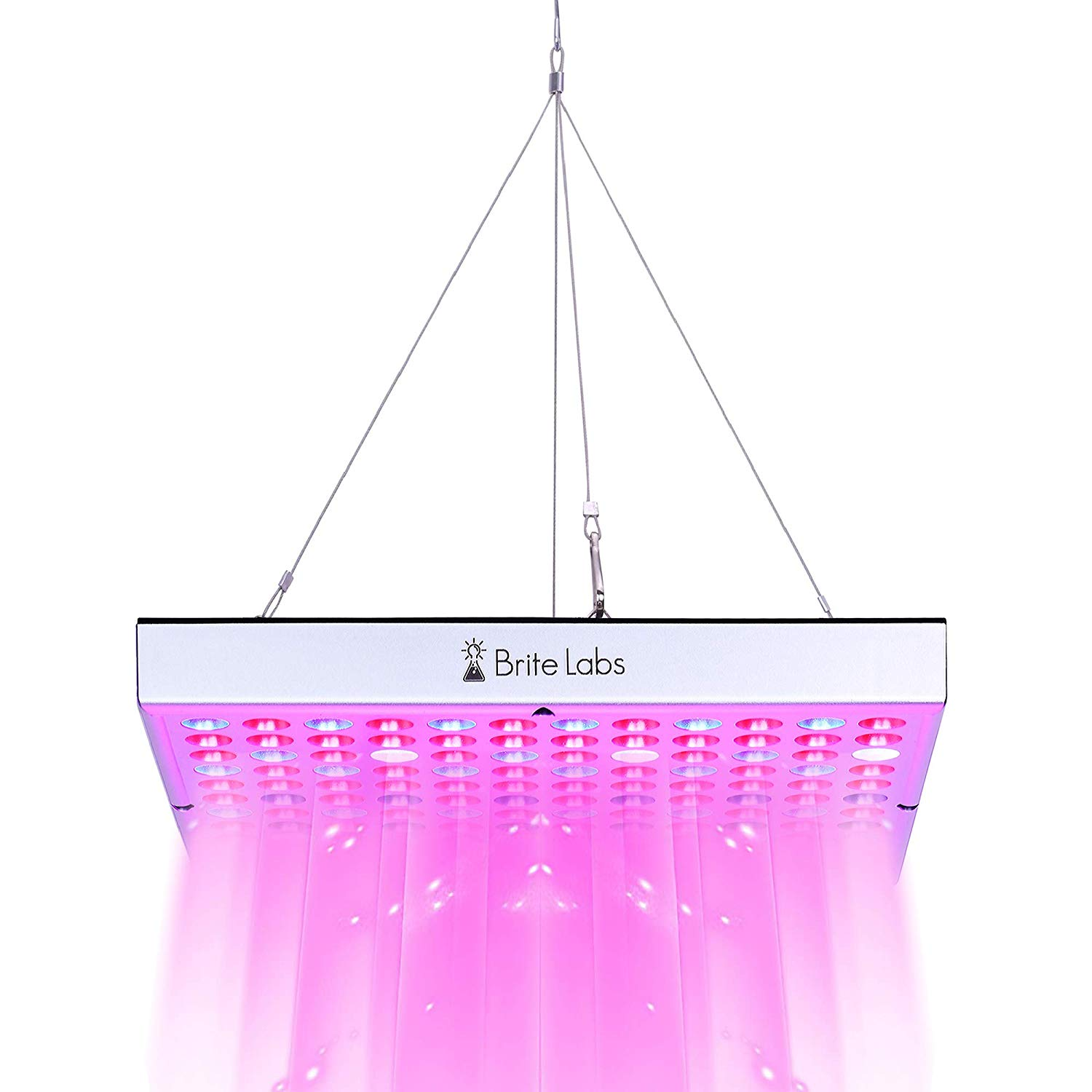 BriteLabs LED Grow Lights for Indoor Plants and Greenhouse, 45W Full Spectrum Plant Growing Light Panel, Hanging Kit and Accessories Included