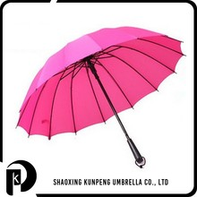 High quality curtch handle double ribs straight umbrella advertising gift umbrella