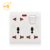 Universal 220V 13A multi pin wall electric switch socket