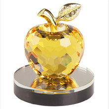 Christmas/Valentine/Wedding Gifts Lovely K9 Yellow Crystal Apple