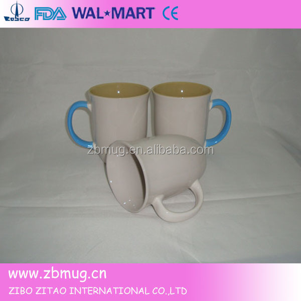 strawberry drinking white cup with flaring mouth