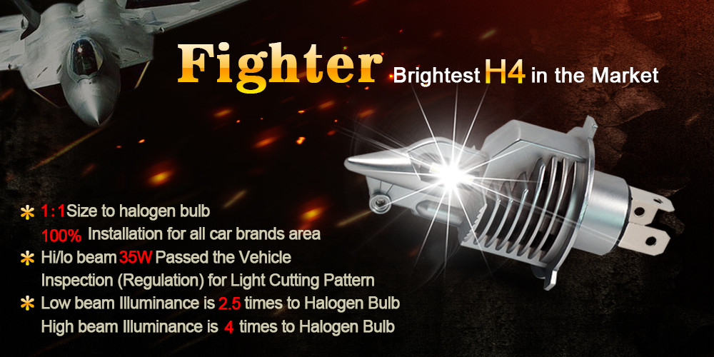 2019 Bright Fighter 70W H4 led headlight 100w led car light h4 9006 led