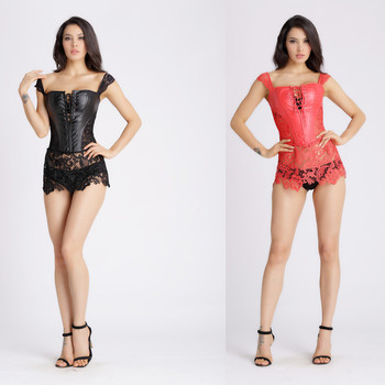 b9440e0dd02 Wholesale Mature Steampunk Gothic Faux Leather Corset - Buy ...