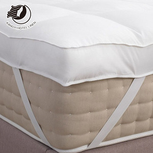 Wholesale Hotel Bed Feather Down Filling Mattress Topper Queen Bed Size