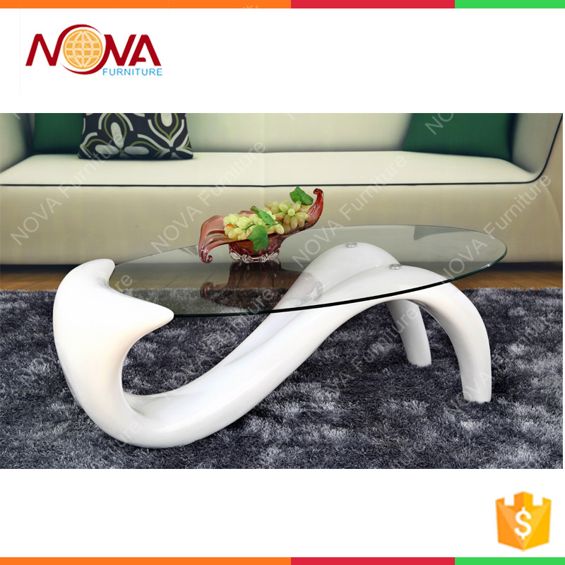 Living room furniture replica oval Iron Metal Type no folded stainless steel metal type glass top specific Moroccan end table