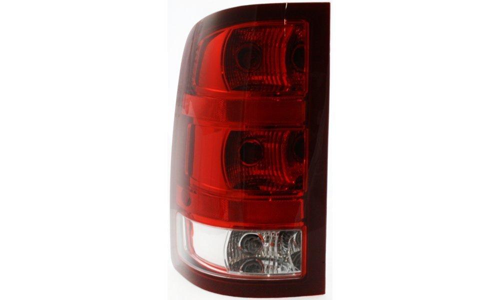 Evan-Fischer EVA15672024545 Tail Light for GMC Sierra P/U 07-10 12-14 Assembly SL/SLE/SLT/WT Models New Body Style Left Side