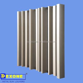 Aluminium Box Louver Profile For Facade Louver