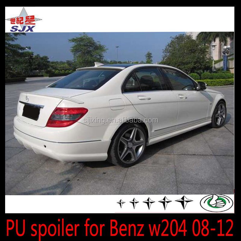 For MERCEDES ben-z C class w204 rear roof spoiler PU material
