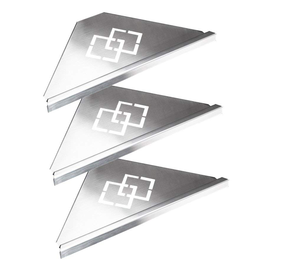 Buy Wall Mount Aluminum Finished Corner Shelf T Dual Tier