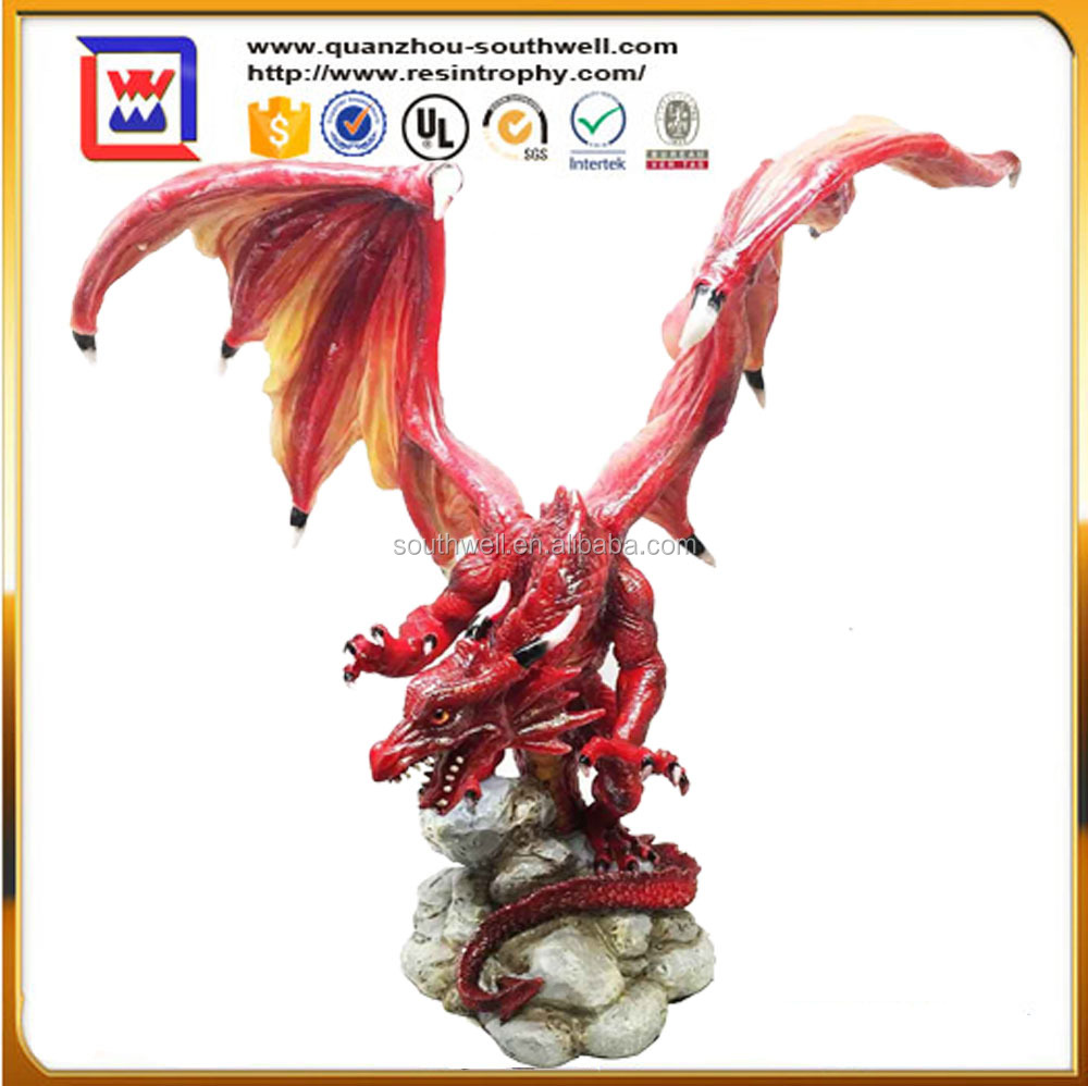 Hand Made Fire Dragon Wholesale And Polyresin Red Winged Fire Dragon  Figurines And Resin Fire Dragon Statues - Buy Hand Made Fire Dragon