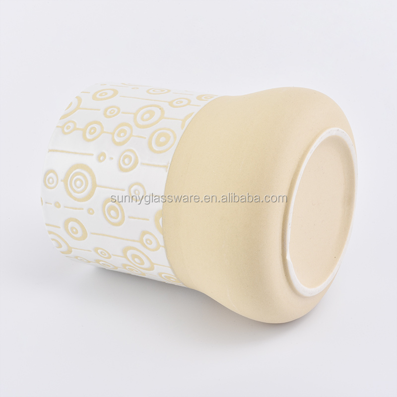 new design 328ml pure and fresh ceramic candle holder for candle making