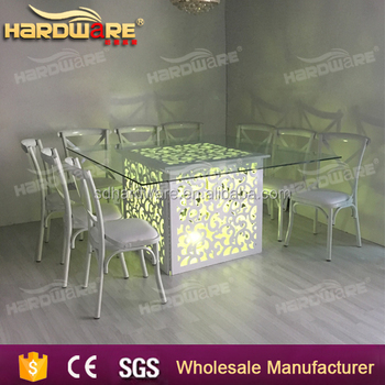 Led Light Dining Room Table