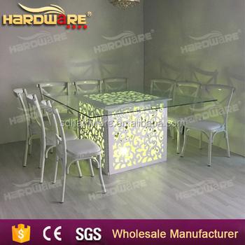 Cher Carre Led Lumiere Salle A Manger Table A Manger Buy Table De Salle A Manger Table En Verre Cher Table En Verre Cher Led Product On Alibaba Com