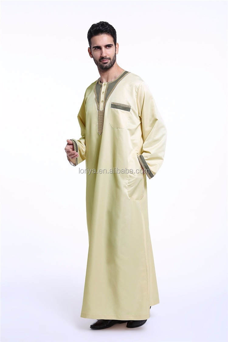 New Arrival Mens Saudi Style Thobe Thoub Abaya Robe Daffah Dishdasha Islamic Arab Kaftan For Men