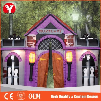 new design inflatable halloween decoration halloween inflatable haunted house for sale