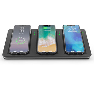 3 in 1 Qi Wireless Charger for iphone for Sumsung for LG Desktop Quick Wireless Mobile phones Charger